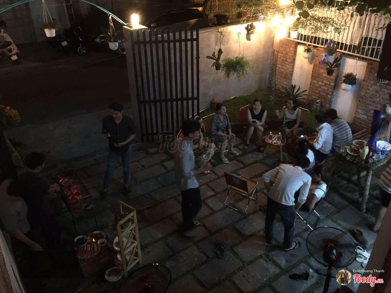 Tiệc nướng tại Dgreen homestay đà nẵng