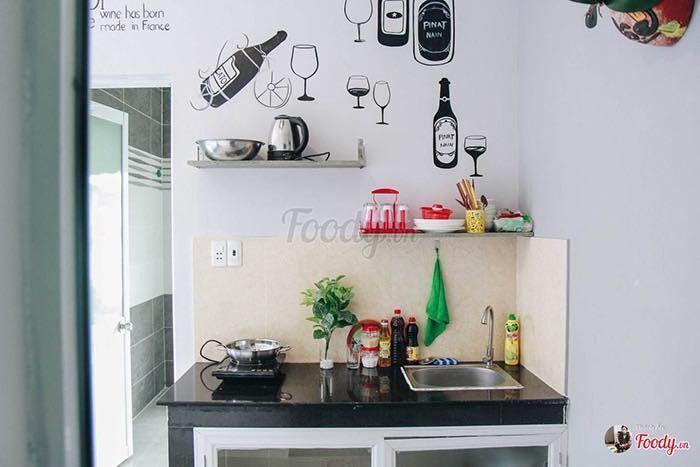 Căn bếp nhỏ đầy đủ tiện nghi