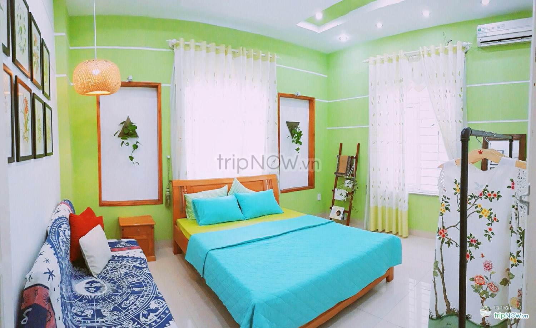 Màu xanh ngập tràn căn phòng nhỏ tại Pura