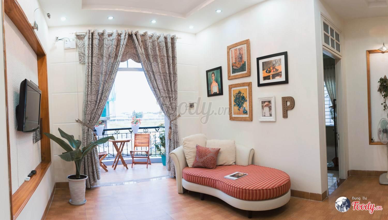 Phòng cách hiện đại , cách phối màu nhã nhặn, tinh tế ở từng góc nhỏ của căn nhà