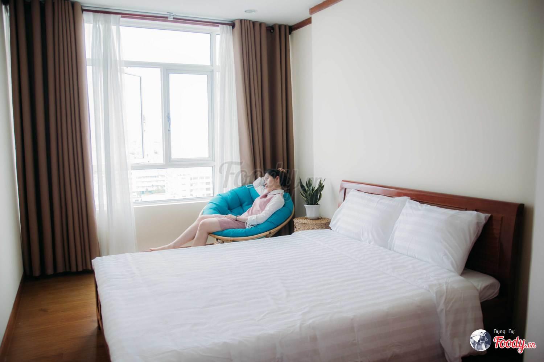 Phòng ngủ dành cho 2 người tại Mô Mô homestay